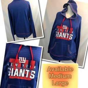 Tops - Yay Touchdown NY Giants! Ladies Hoodie